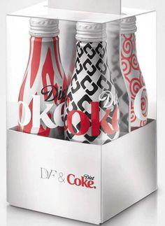 Diane von Furstenberg Designs Diet Coke Bottles