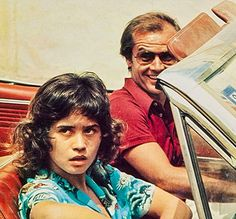 """Maria Schneider y Jack Nicholson en """"El Reportero"""", 1975"""