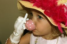 That's So Cuegly: An English Tea Party at Two Years of Age Girls Tea Party, Tea Party Birthday, Tea Parties, Tea And Crumpets, Tea Quotes, Fancy Hats, Tea Art, Twin Girls, Party Accessories