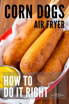 Cooking frozen corn dogs in the air fryer is the best way to cook them. Air Fryer Recipes Snacks, Air Fryer Recipes Vegetarian, Air Fryer Recipes Low Carb, Air Fryer Recipes Breakfast, Air Frier Recipes, Air Fryer Dinner Recipes, Cooking Recipes, Easy Recipes, Easy Cooking