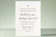 Delicate Grace Letterpress Wedding Invitations by Olivia Raufman at minted.com