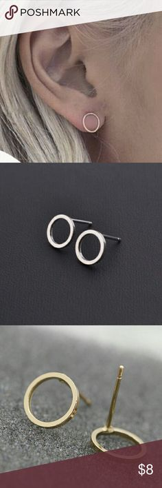 Simple Circle Earrings Small circle earrings available in silver and gold. Jewelry Earrings