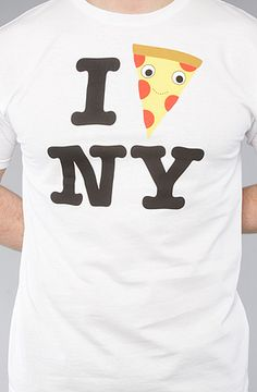 I Pizza NY: The Yummy Pizza City Tee in White  Kidrobot