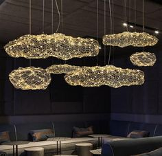 Amica - Modern Art Deco Star Light Dotted Cloud Lamps -You can find Lamps and more on our website. Art Deco Stil, Modern Art Deco, Home Lighting, Pendant Lighting, Chandelier, Lampe Art Deco, Cloud Lamp, Cloud Lights, White Pendant Light