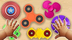 Learn Colors with Fidget Spinner Toys | Surprise Eggs Hammer Nursery Rhy...