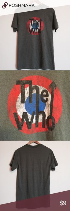 "Vintage The Who band tee Great condition ""The Who"" logo tee. The shirt is an Army green color and is a men's size small. Vintage Tops Tees - Short Sleeve"