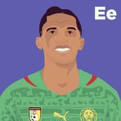 E is for Samuel Eto'o. #tpitr #worldcupaz #atoz