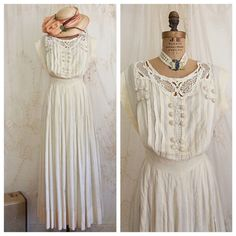 ANTIQUE WEDDING DRESS I am always on the hunt for Antique Wedding Gowns and with that being said I only buy gowns that are wearable and flattering