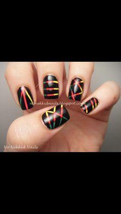 #Rasta nails I love these