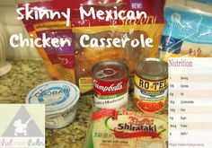 Skinny Mexican Chicken Casserole!  Super easy and quick with low carbs, lots of protein, and loads of flavor! 173 calories per serving.   #skinny #recipe