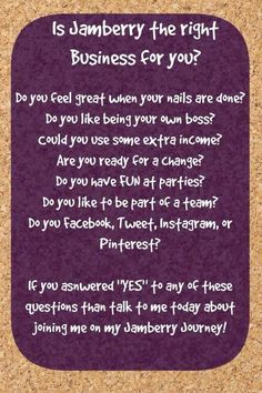 Want to become a Jamberry consultant? Message me to find out how you can up to half off the cost of your starter kit :) facebook.com/JammingwithTara: