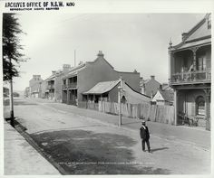 Fort Street, The Rocks by State Records NSW, Australia. The Rocks Sydney, Botany Bay, Sydney City, Photo Memories, Cool Countries, Historical Pictures, Sydney Australia, Old Photos, Beautiful Places
