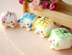 Chibi Roasted Tofu Plushies from CutesyCrap.com