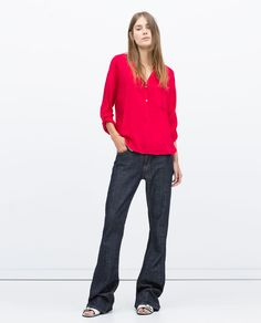 Image 1 of LONG ASYMMETRIC SHIRT from Zara
