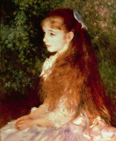Portrait of Mademoiselle Irene Cahen d'Anvers Painting by Pierre Auguste Renoir