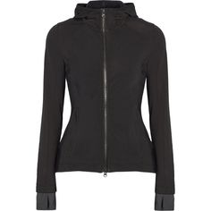 Adidas by Stella McCartney Hooded Climaheat® neoprene jacket (1.365 VEF) via Polyvore featuring activewear, activewear jackets, outerwear, black, adidas sportswear, adidas activewear y adidas