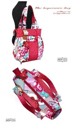 4a1b1471ab79 BIG purse sewing pattern. Large handbag