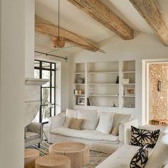 Living Room Windows, Home Living Room, Living Room Designs, Living Room Decor, Living Spaces, Modern Farmhouse Interiors, Luxury Home Decor, Home Decor Accessories, Home Interior Design