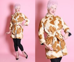 SO FABULOUS Late 1950's Caramel and Cream Faux by butchwaxvintage