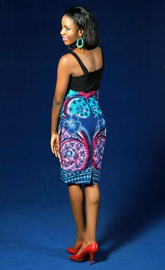 African+High+Waist+Made+Pencil+Skirt.+by+THEAFRICANSHOP+on+Etsy,+£35.00