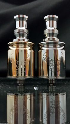 Caravela Mechanical Mod Ehpro Clone Stainless 18650 Patriot Atomizer Gold 22mm   eBay