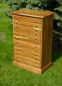 Chest With Map Drawers Painted White For Jewelry Hardwood Furniture Cabinet