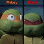 Brothers Raph and Mikey gif. by Theresmorethanme