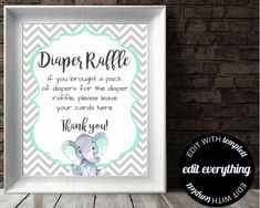 Elephant Baby Shower Mimosa Bar Sign Mint And Gray Elephant Baby Shower Mimosa Bar Sign Printable Mint Baby Shower Mimosa Sign Elephant Sign by MintedDelights on Etsy mintbabyshower Mint Baby Shower, Baby Shower Signs, Baby Shower Games, Mimosa Bar Sign, Thing 1, Grey Elephant, Sign Printing, Bar Signs, Baby Shower Decorations