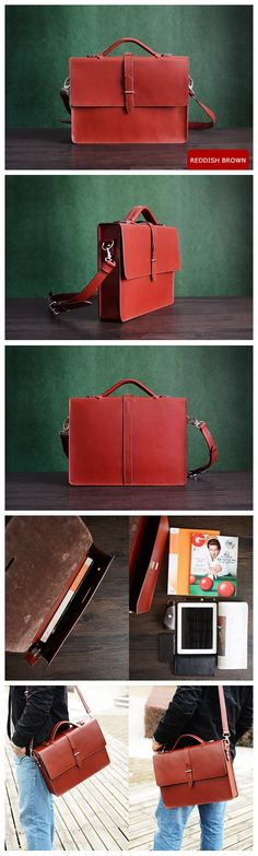 Custom Handmade Genuine Leather Briefcase, Messenger Bag, Laptop Bag, Men's Handbag