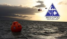 Two Coast Guard Choppers coming in to pick up the RES-Q pod tsunami survival pod and fly it and its occupants to safety.