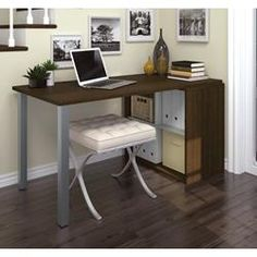 i3 by Bestar Workstation in Tuxedo and Sandstone 150877-78