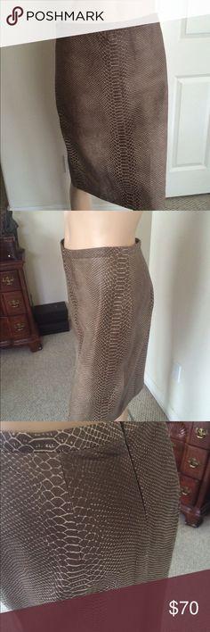 BCBG Leather Skirt Piton Print Leather Skirt BCBGMaxAzria Skirts Mini
