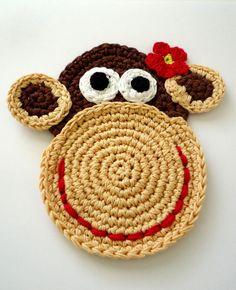 Crochet Monkey Coaster Pattern by MonikaDIY on Etsy, $4.00