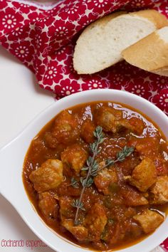 Pork Stew, Chana Masala, Curry, Food And Drink, Chicken, Ethnic Recipes, Lean Body, Gastronomia, Spanish Cuisine
