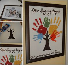 The whole family will love making this Family Handprint Tree. It will be a treasured feature in your home.