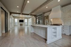 Coats Homes | Highland Park, Texas: white/washed/gray floor.