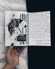 — balance isnt only a word // Noor Unnahars writing journal entry # 58 // art journal ideas inspiration , grunge Tumblr hipsters aesthetic aesthetics, notebook diary journaling scrapbooking diy craft, words quotes inspirational, writers writing, cut and paste, Instagram photography flatlay //