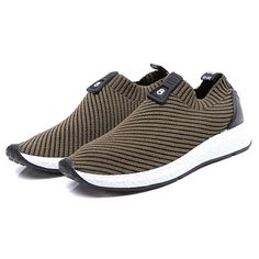 810bb36aa Fashion Men Knitted Strech Fabric Breathable Non-slip Slip On Casual  Sneakers - NewChic Mobile