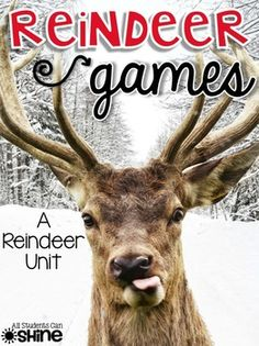 """Are you teaching about reindeer (or caribou) in your class this year? If yes, this unit is for you! Here is what you will find in this pack: """"Rein. School Themes, Classroom Themes, School Ideas, Sentence Writing, Writing Sentences, Reindeer Facts, Holiday Activities For Kids, Winter Activities, School Holidays"""