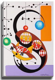 Cat S by Dominic Bourbeau Graphic Art on Wrapped Canvas