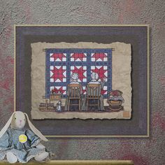 Nostalgic Amish Women Quilting Art Whimsical by TwoBananasArt, $20.00