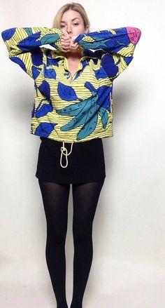 Vintage Mistral Andy Warhol Inspired Windbreak | Jacket | Yellow | Bananas | Fruit Basket | Bright | Hipster | Hip Hop | Funky by VampRodeoVintage on Etsy