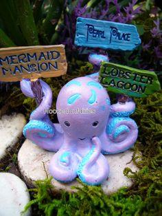 Dollhouse Miniature Fairy Garden Under The Sea Sea Life Octopus 706437 Gnome | eBay