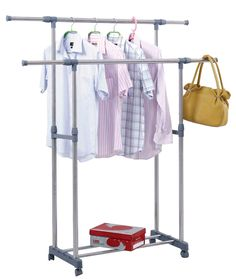 free standing clothes dryer stand Rustic Clothes Hangers, Clothes Hanger Rack, Clothes Drying Racks, Shoe Rack Closet, Wardrobe Rack, Clothes Dryer Stand, White Shag Rug, Small Apartments, Stylish