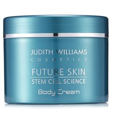 218576 - Judith Williams Future Skin Body Cream 400ml  QVC PRICE: £28.00 + P&P: £3.95 This luxurious body cream features a smooth, silky texture and helps skin look and feel more youthful. Treat your body to a little pampering with this Body Cream from Judith Williams' Future Skin range.