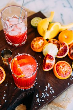 Blood Orange Ginger Margaritas