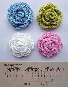 Watch The Video Splendid Crochet a Puff Flower Ideas. Wonderful Crochet a Puff Flower Ideas. Col Crochet, Crochet Puff Flower, Crochet Flower Tutorial, Crochet Diy, Crochet Gratis, Knitted Flowers, Crochet Flower Patterns, Crochet Diagram, Crochet Motif