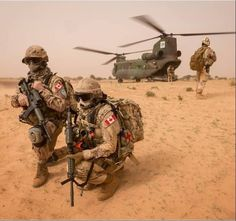 Canadian troops in Mali, summer 2018.