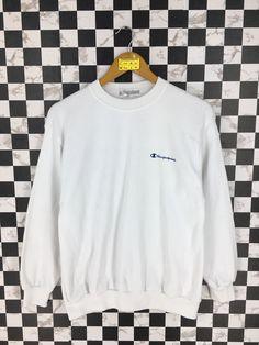 88138fbe5 CHAMPION Products Pullover Sweater Medium Vintage 90 s Champion Sportswear  Streetwear Jumper Champion White Crewneck Sweatshirt Size M