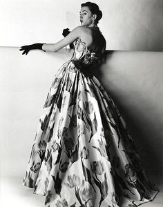 Evening gown by Balmain, 1953